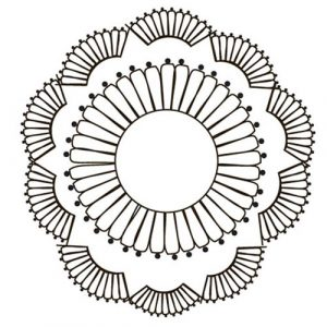 CLEAR STAMP PAINTABLE DOILY