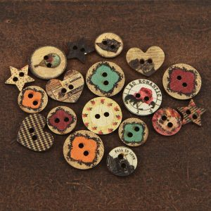 WOOD BUTTONS- ROMANCE NOVEL