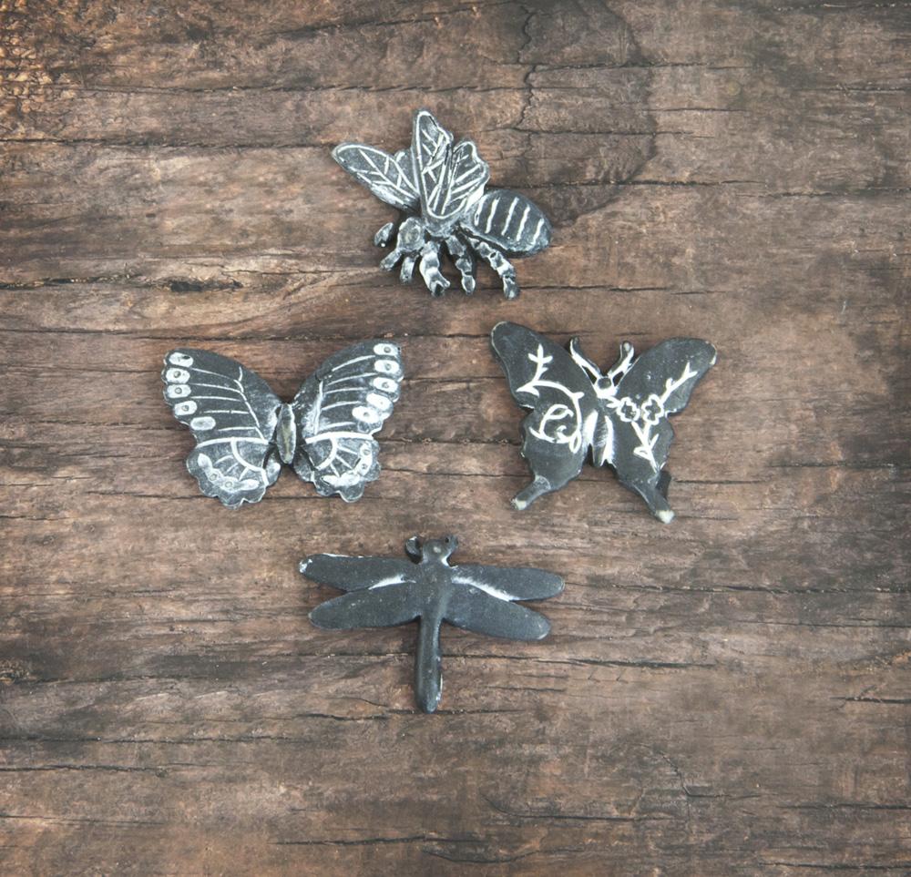 Resin In Wood Box - Butterfly - 12 pcs