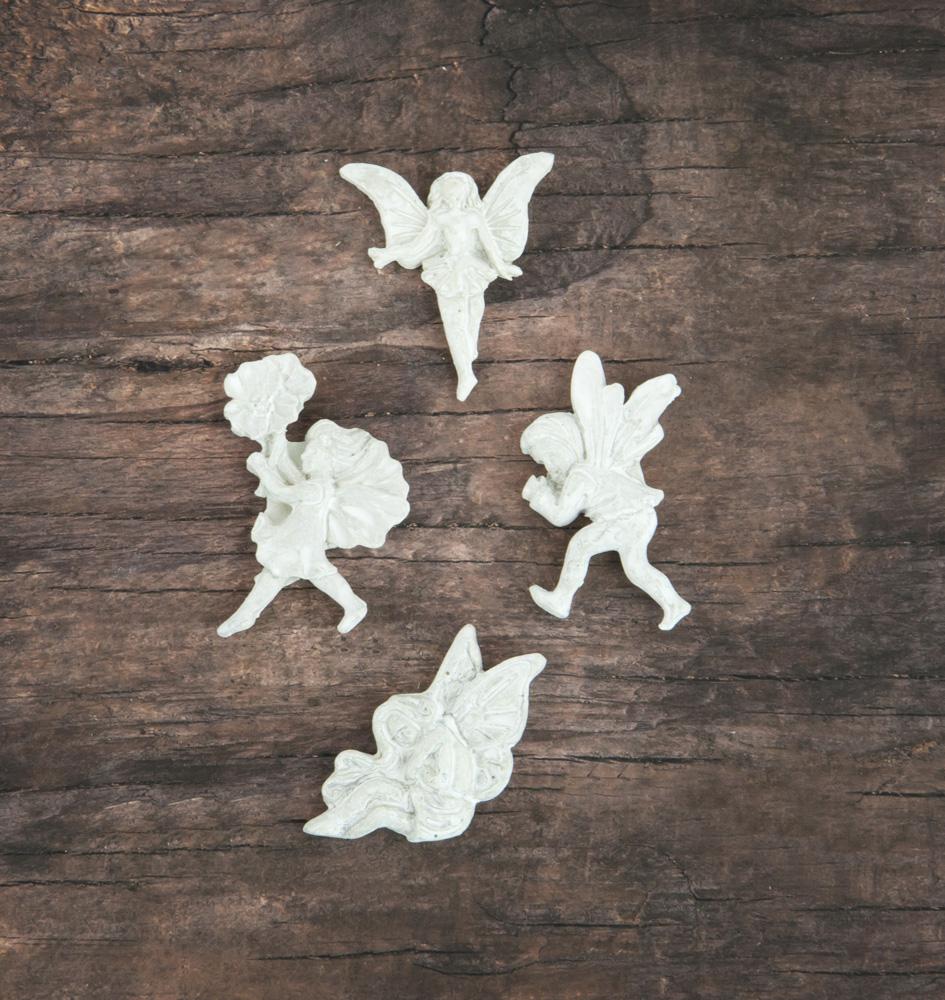 Resin In Wood Box - Fairy - 12 pcs