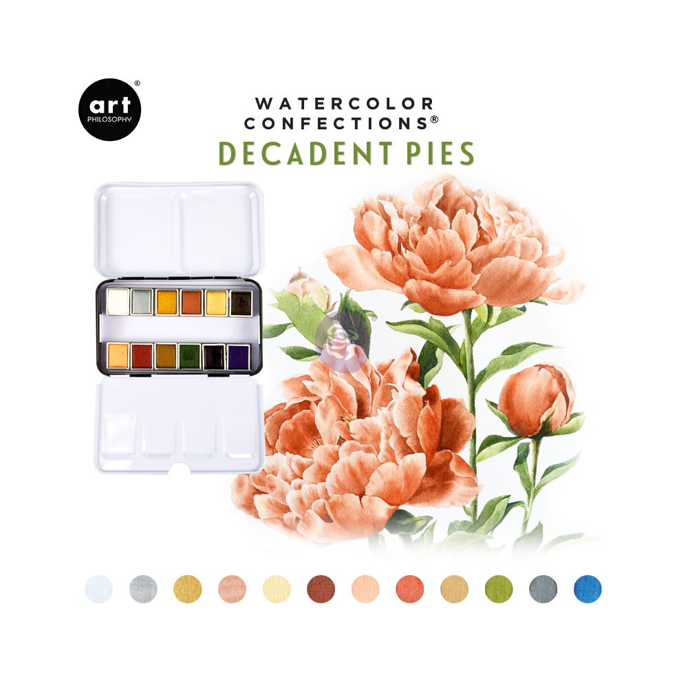 Watercolor Confections: Decadent Pies