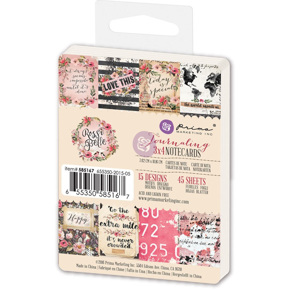 3x4 Journaling Cards - Rossibelle