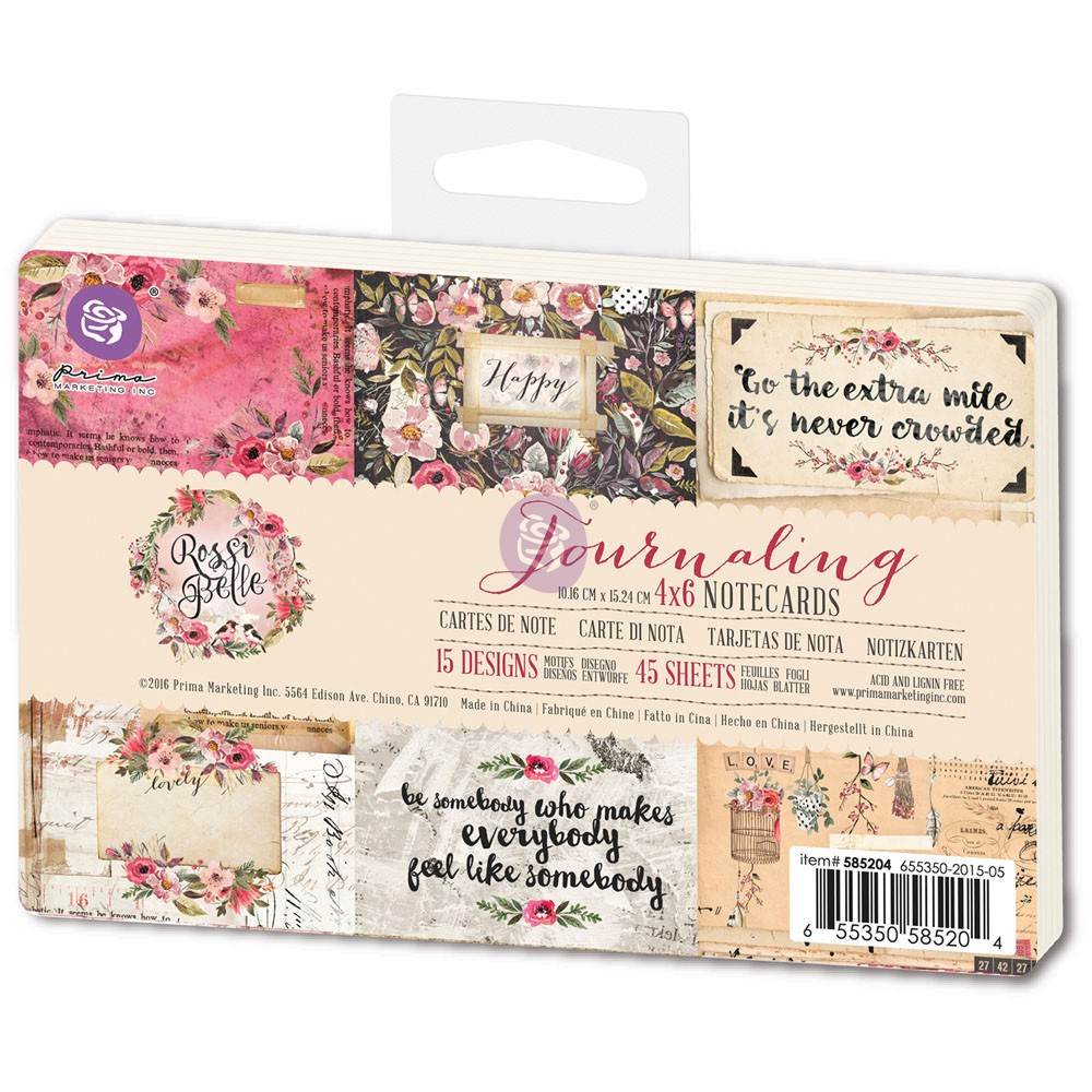 4x6 Journaling Cards - Rossibelle