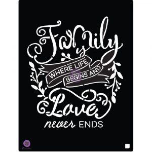 8x10 Stencil - Family Love