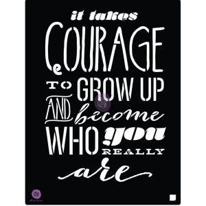 8x10 Stencil - Courage