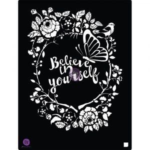 8x10 Stencil - Believe