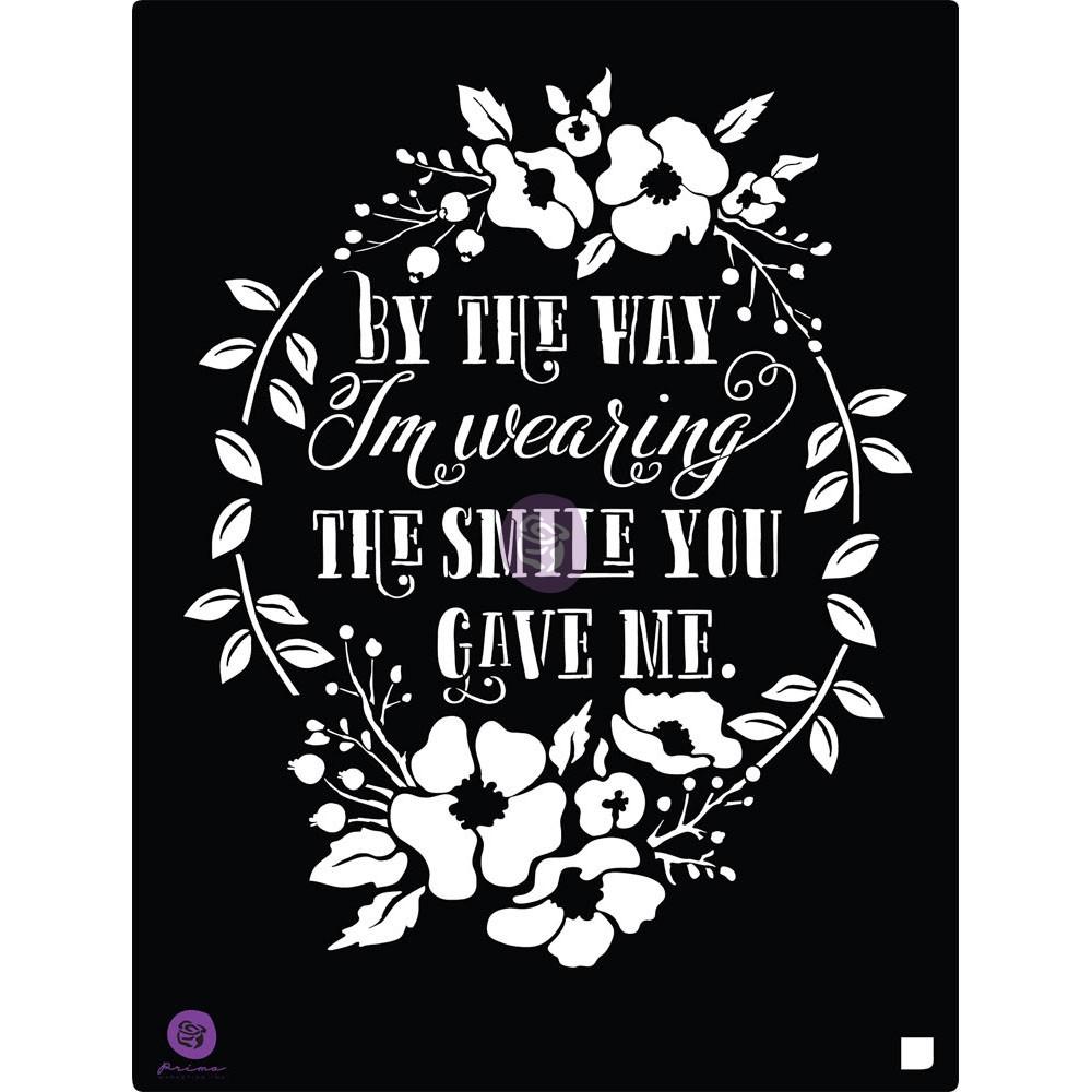 8x10 Stencil - Smile