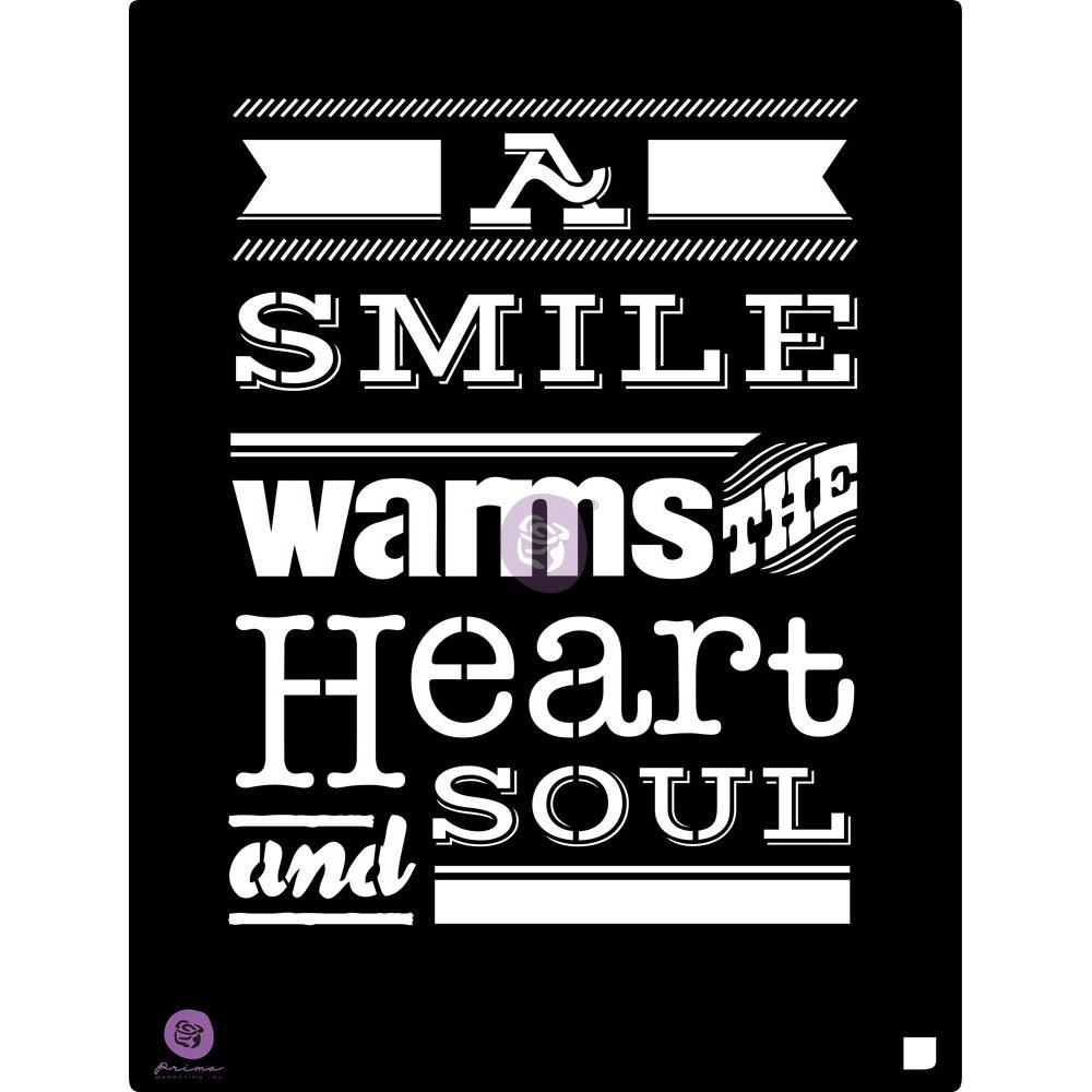 9.5x12 Stencil: A smile...