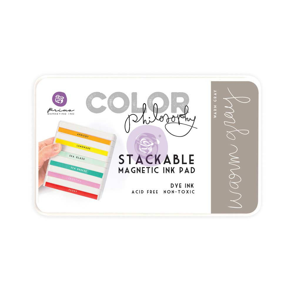 Color Philosophy Stackable magnetic ink pad- Warm Gray