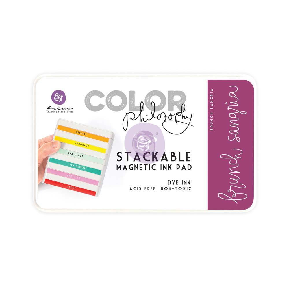 Color Philosophy Stackable magnetic ink pad- Brunch Sangria