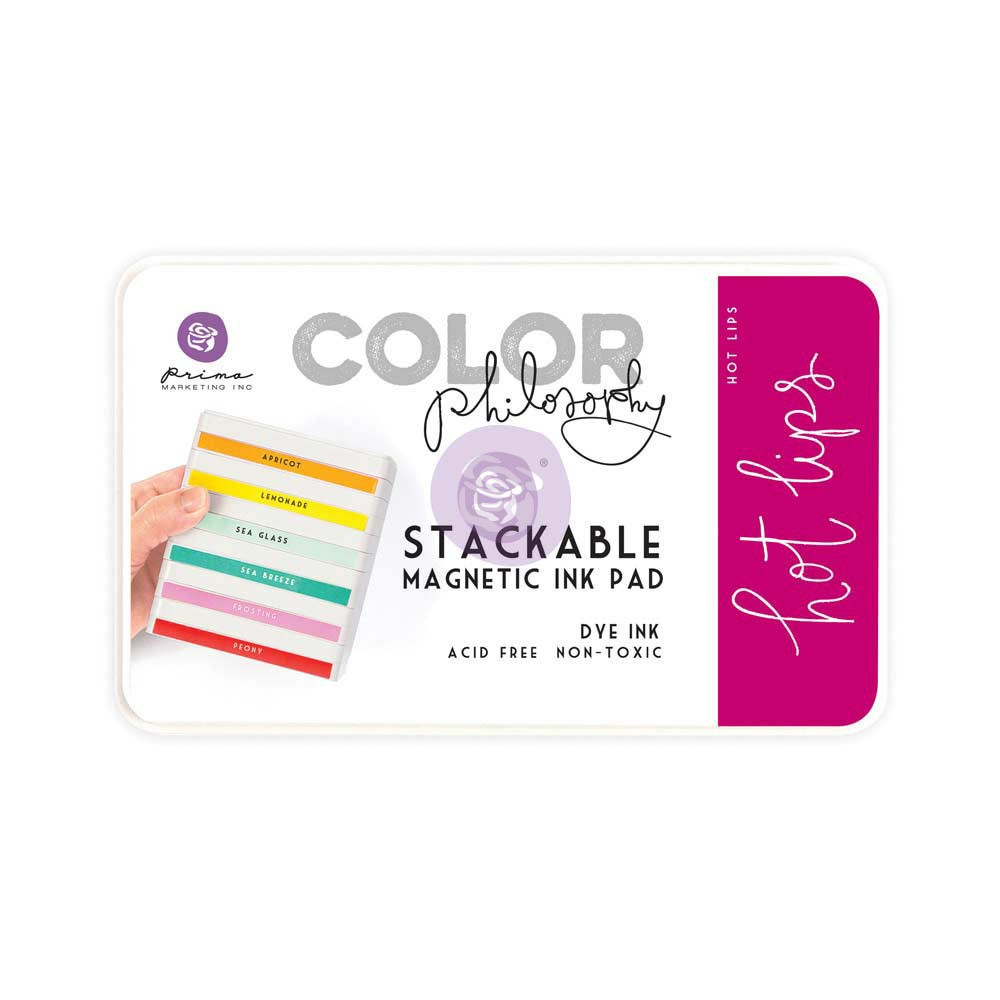 Color Philosophy Stackable magnetic ink pad- Hot Lips