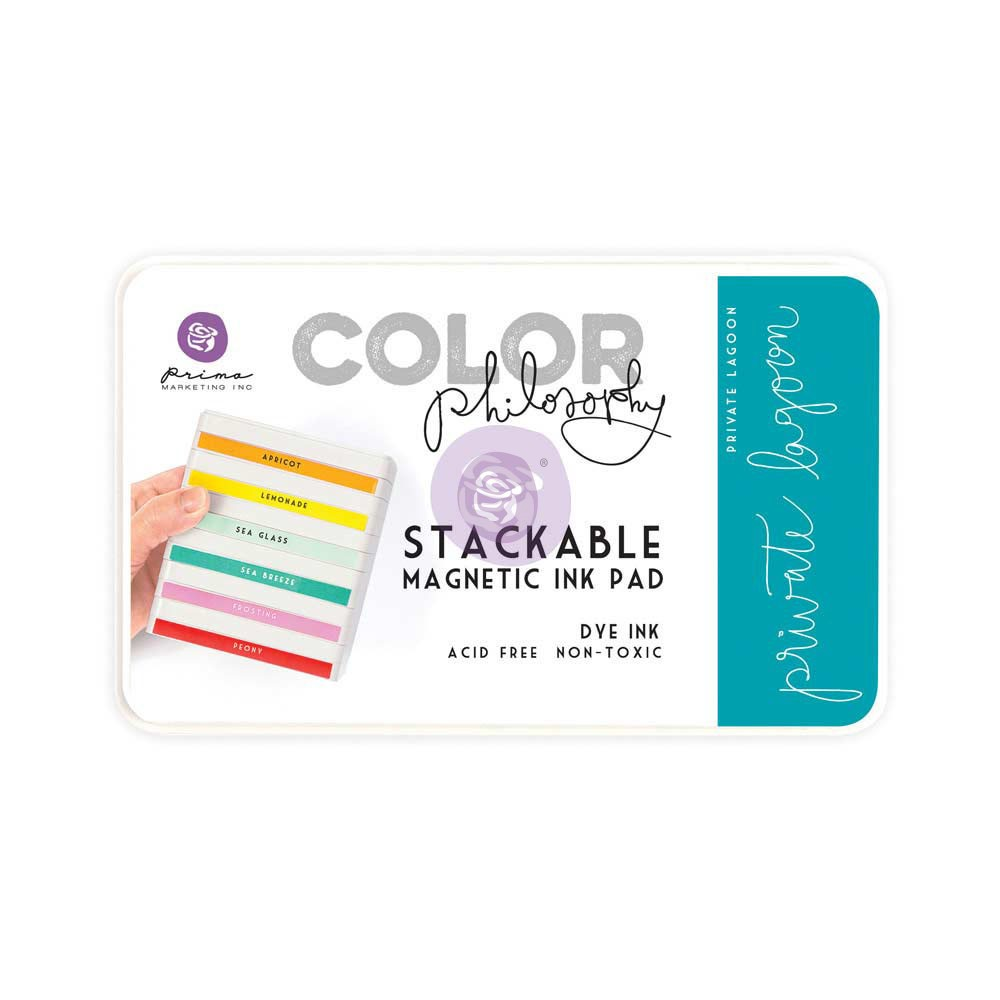 Color Philosophy Stackable magnetic ink pad- Private Lagoon