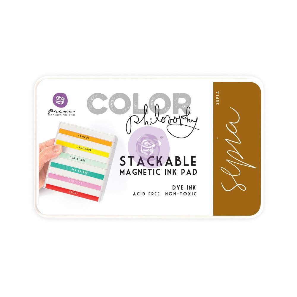 Color Philosophy Stackable magnetic ink pad- Sepia