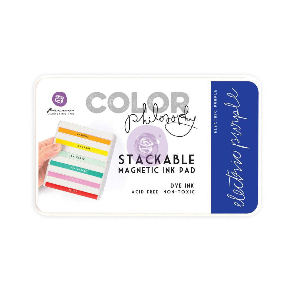Color Philosophy Stackable magnetic ink pad- Electric Purple