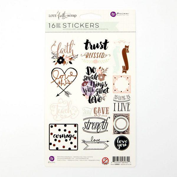 Love Faith Scrap -Stickers