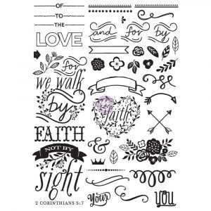 Love Faith Scrap -Cling Stamp - Elements