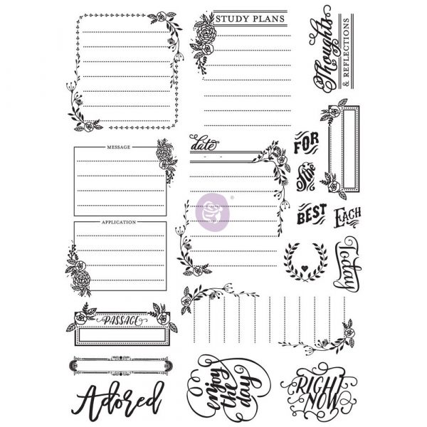 Love Faith Scrap -Cling Stamp - Journaling
