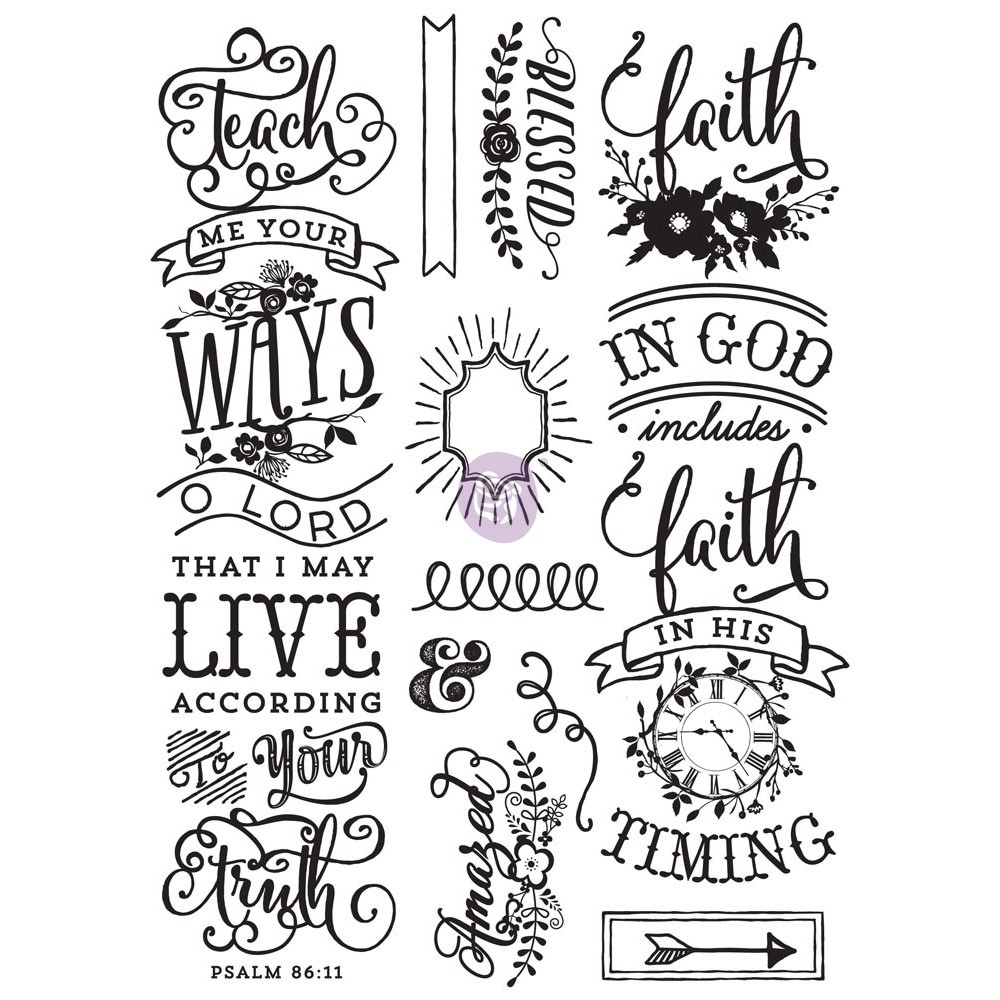 Love Faith Scrap -Cling Stamp - Quote