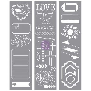 Love Faith Scrap -Stencils
