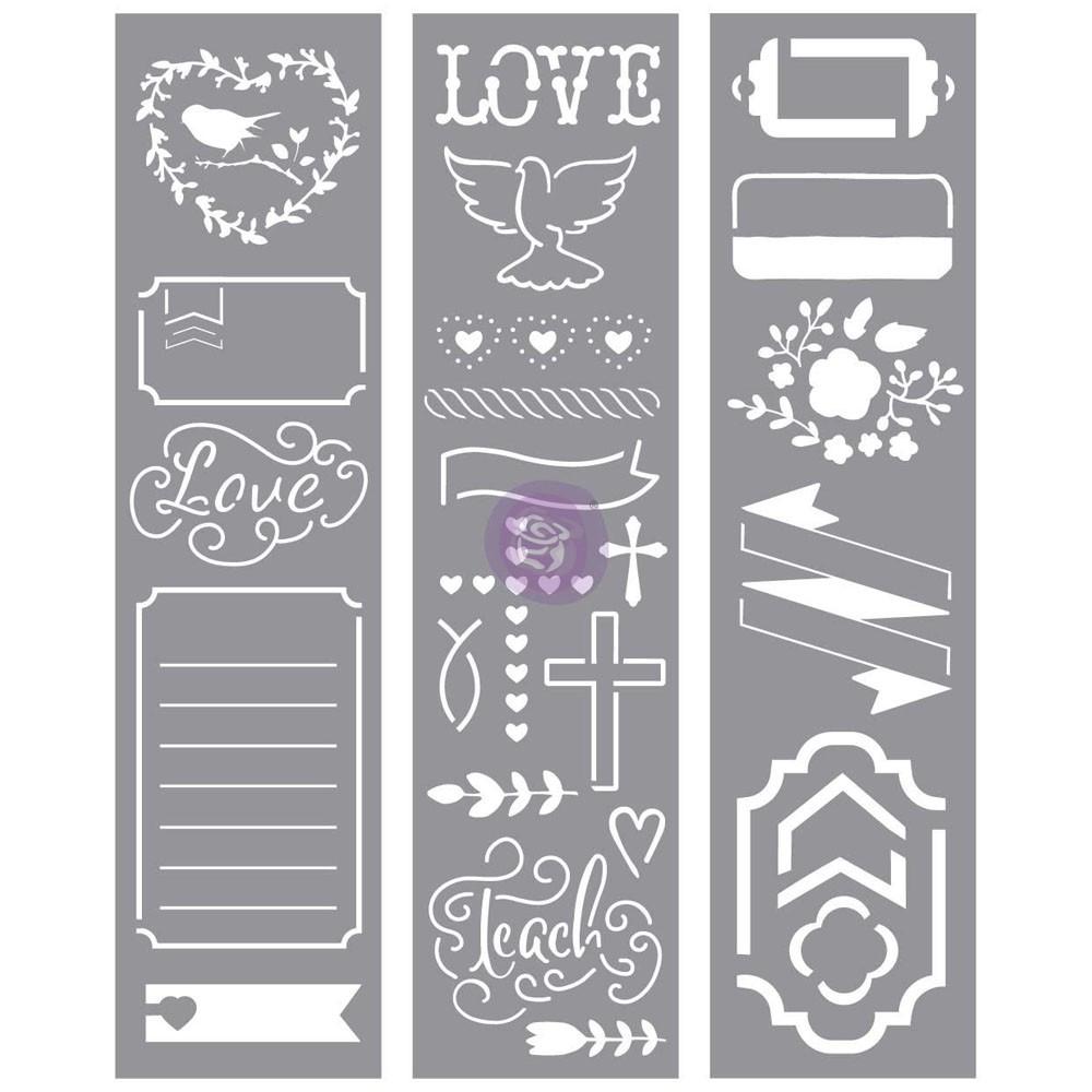 Love Faith Scrap -Stencils