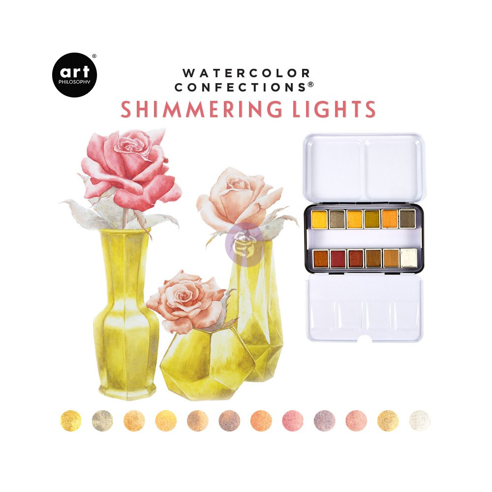 Watercolor Confections: Shimmering Lights