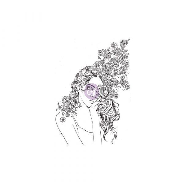 Cling Stamps-Prima Princesses-Amelie