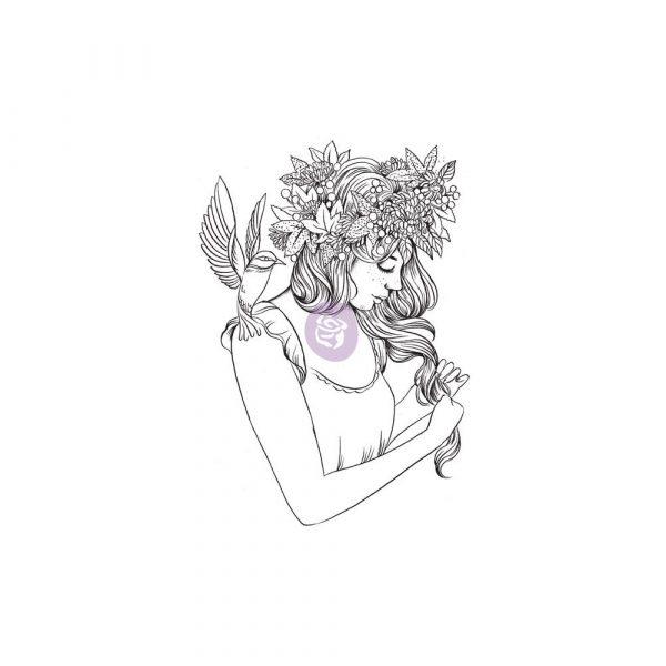 Cling Stamps-Prima Princesses-Coco