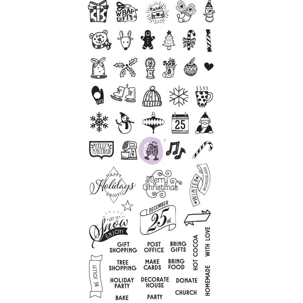 """My Prima Planner  Clear Stamps - """"Christmas"""""""
