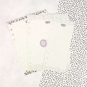 My Prima Planner Embellishments - Dry Erase Boards - Black N White