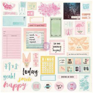 Prima Traveler's Journal Embellishments - Ephemera And Stickers - Sweet Notes
