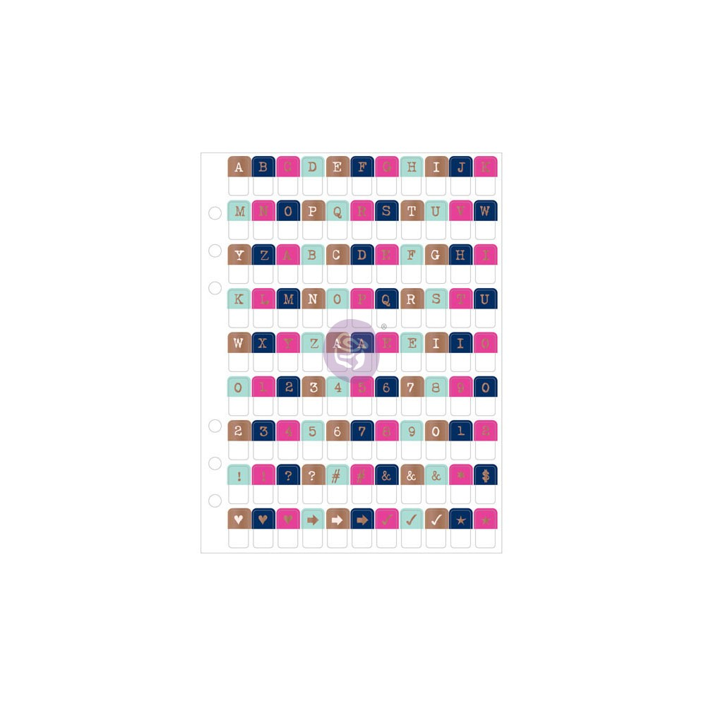 My Prima Planner Embellishments - Alpha Tabs 2