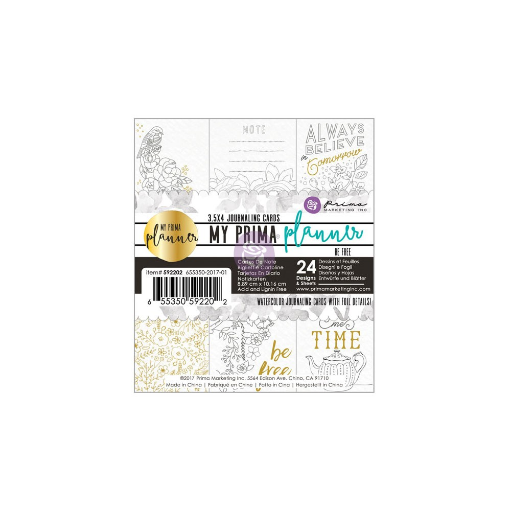 Prima Marketing Inc My Prima Planner Embellishments Coloring List Pad