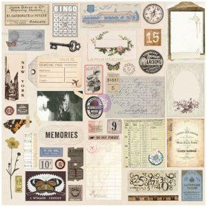 Prima Traveler's Journal Embellishments - Vintage Ephemera And Sticker Sheet