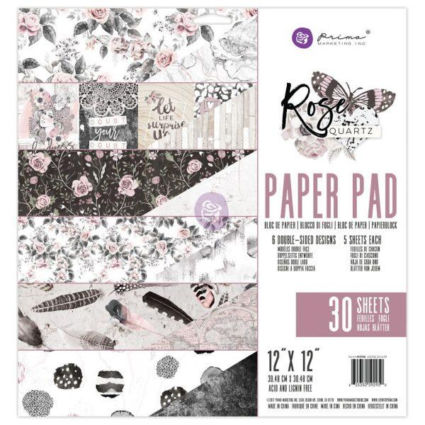 12X12 Paper Pad - Rose Quartz