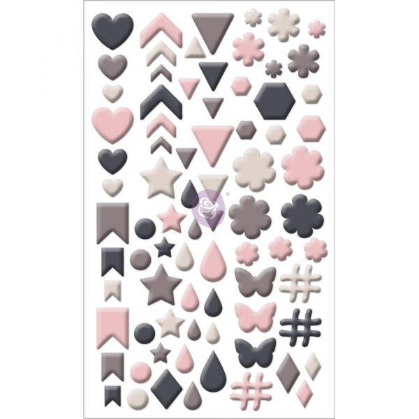Enamel Shapes - Rose Quartz