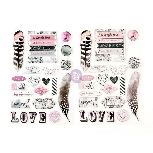 Puffy Stickers - Rose Quartz