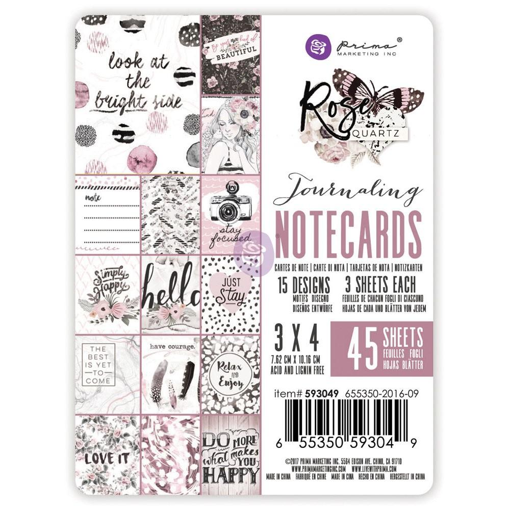 3X4 Rose Quartz Journaling Cards