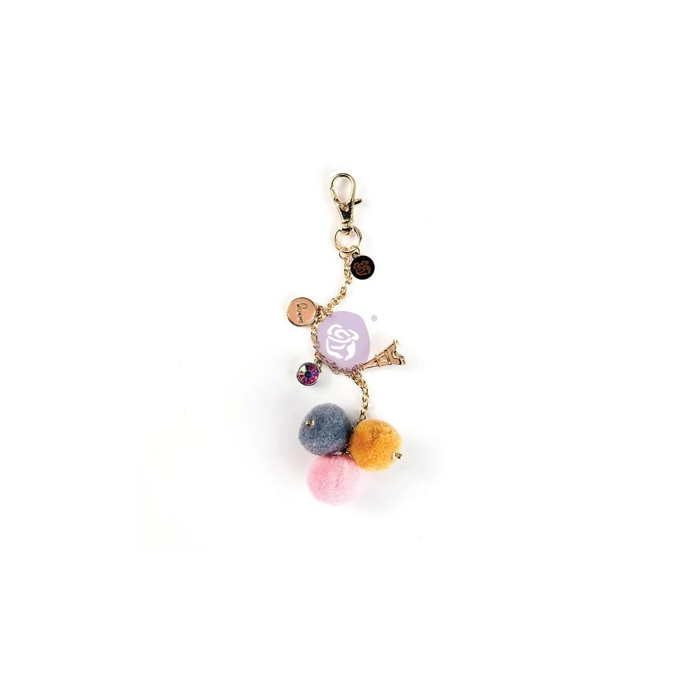 My Prima Planner Embellishments - Paris Love Pom Pom Key Chain