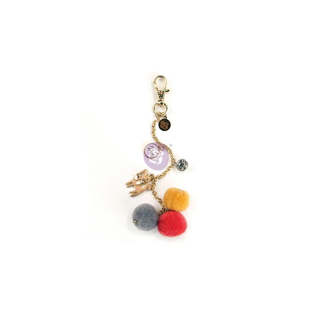 My Prima Planner Embellishments - Kitty Cat Love Pom Pom Key Chain
