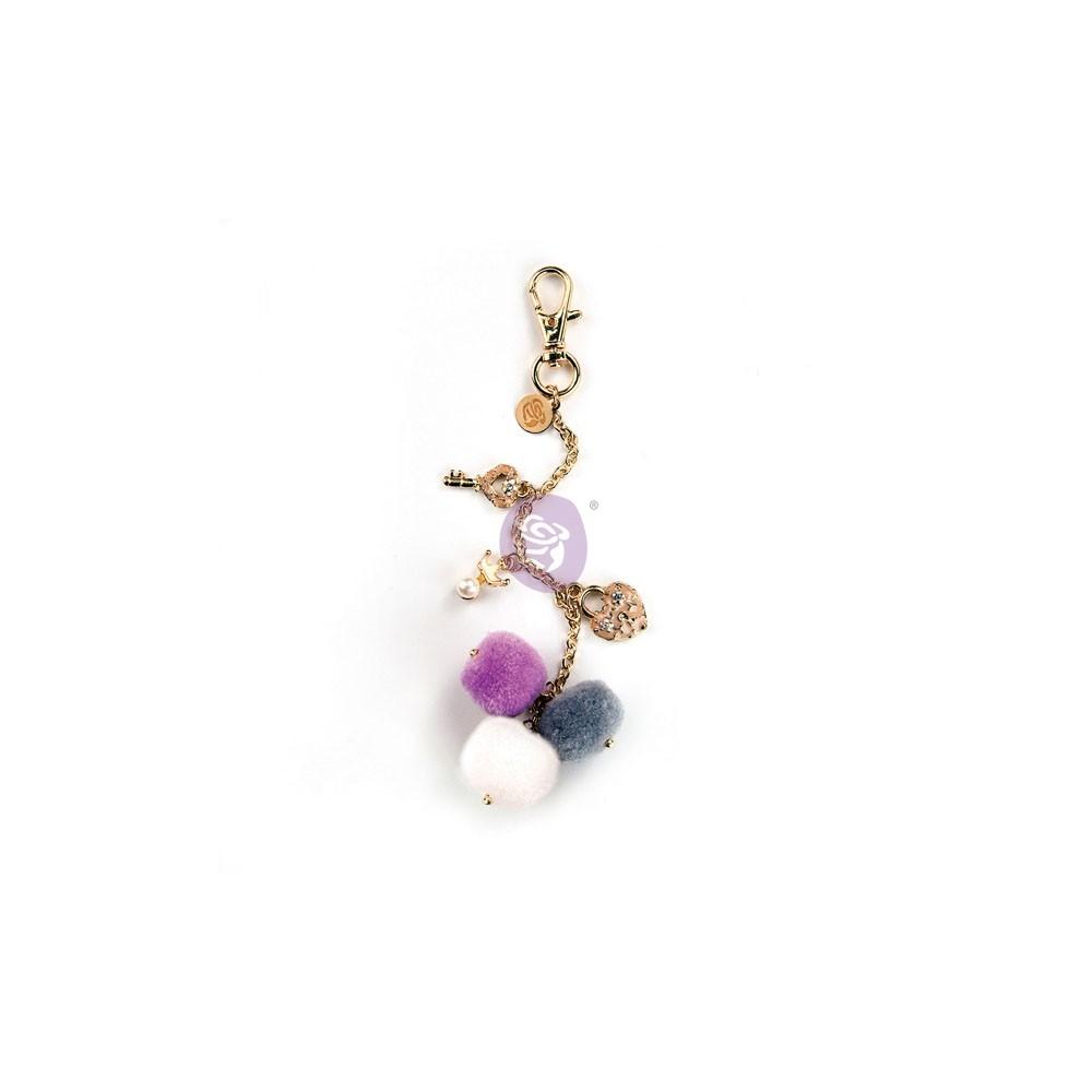 My Prima Planner Embellishments - Key To My Heart Pom Pom Key Chain