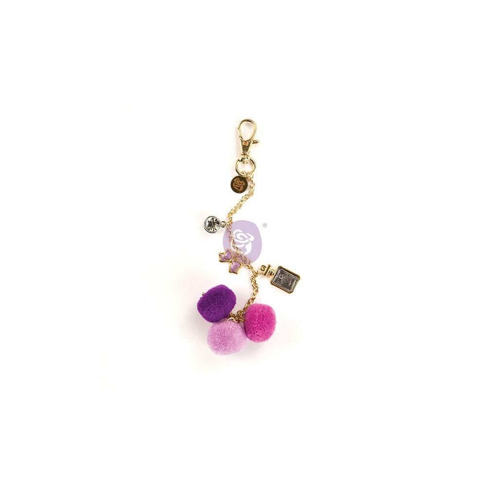 My Prima Planner Embellishments - Le Parfum Pom Pom Key Chain