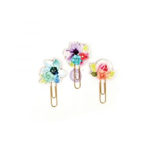 My Prima Planner Clips - Watercolor Florals