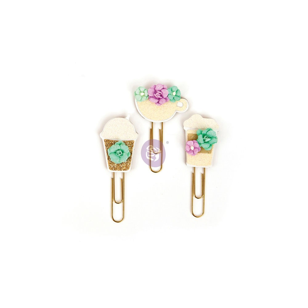 My Prima Planner Clips - Coffee & Tea Lover