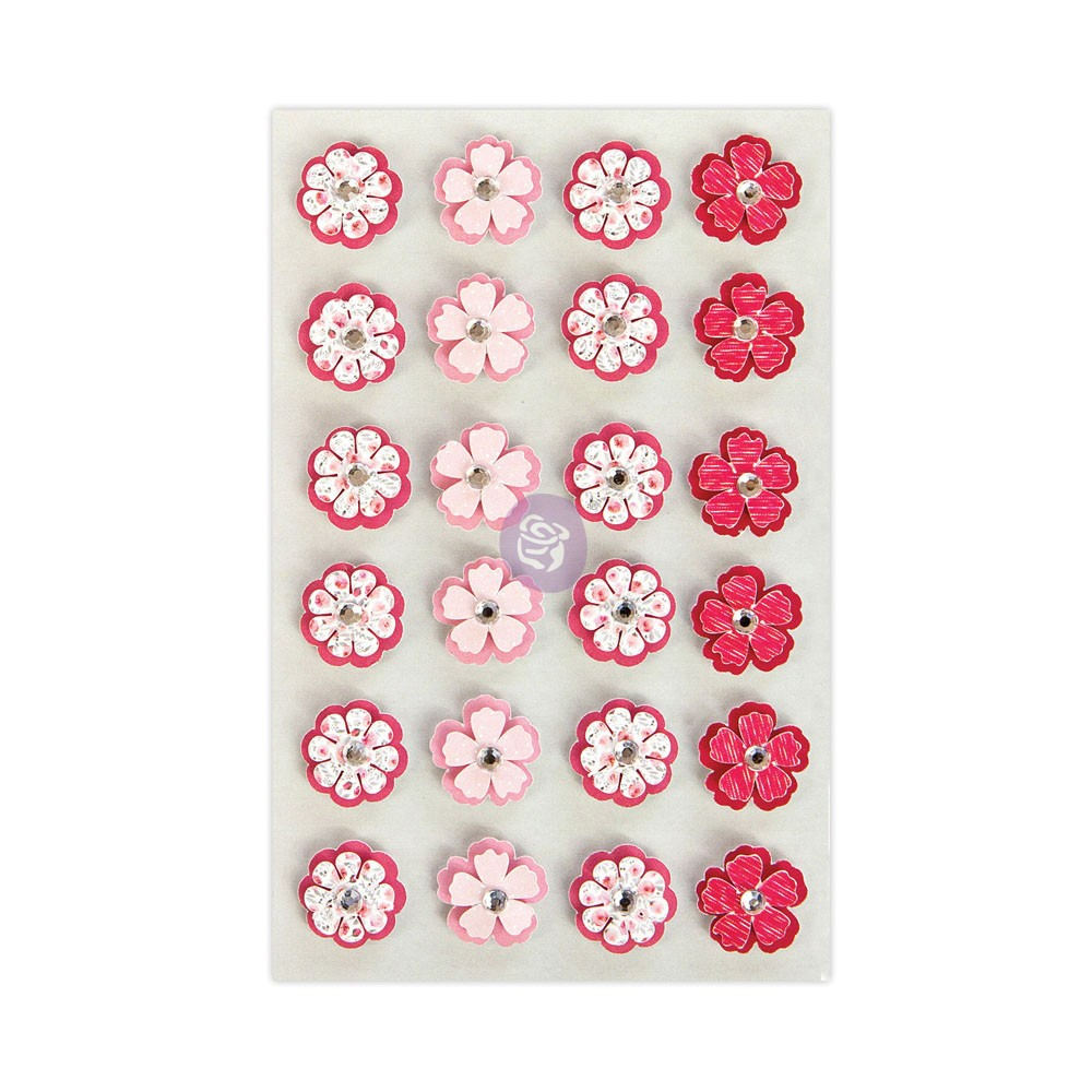 Prima Traveler's Journal Flowers - Pink Petals