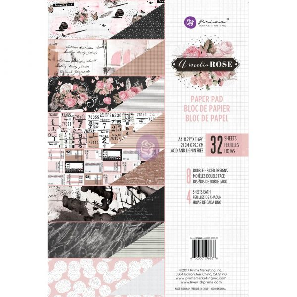 Amelia Rose - A4 Paper Pad
