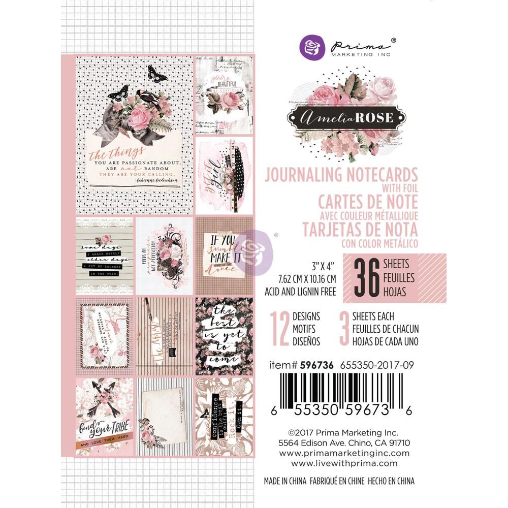 Amelia Rose - 3x4 Journaling Cards