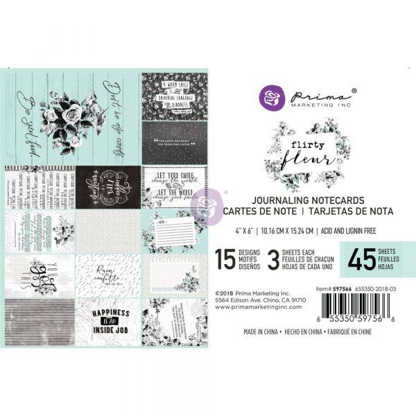 Flirty Fleur 4X6 Journaling Cards