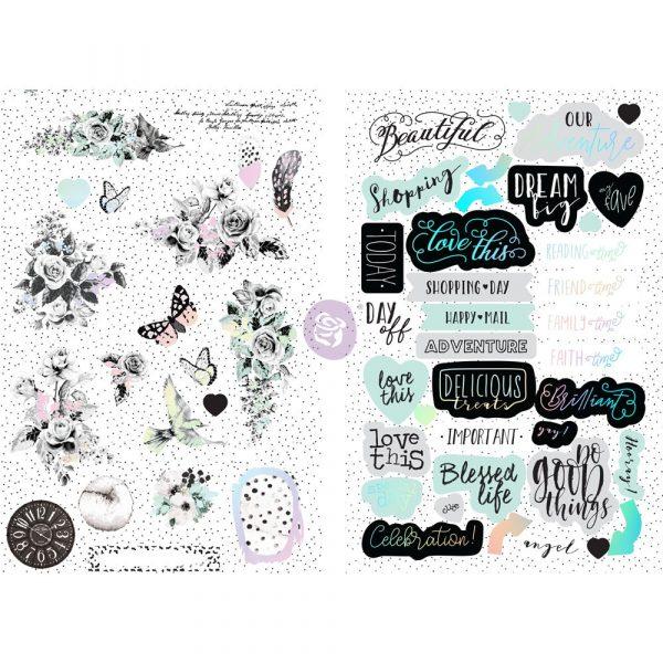 Flirty Fleur Chipboard Stickers