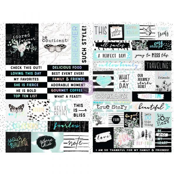 Flirty Fleur Quote + Word Stickers