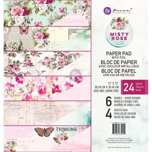 Misty Rose 12x12 paper pad